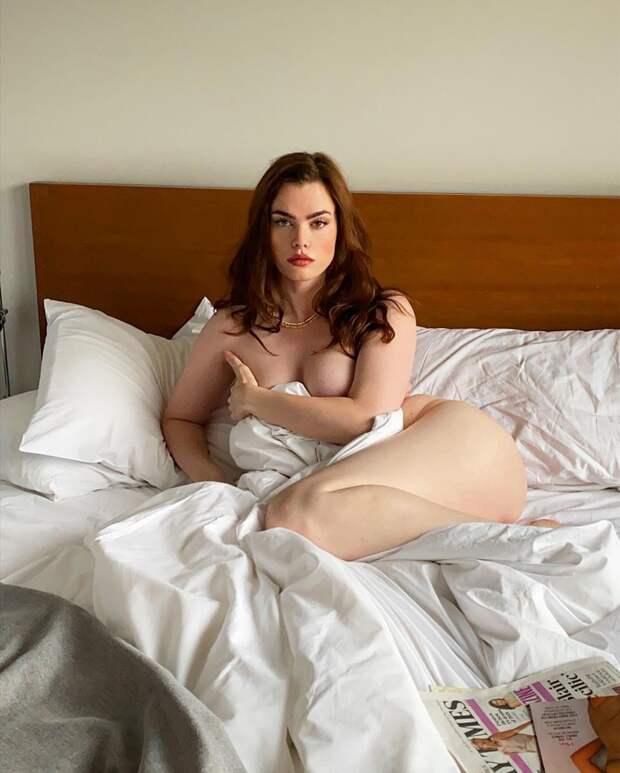 30-летняя британка не смогла избавиться от целлюлита и живота и стала плюс-сайз моделью
