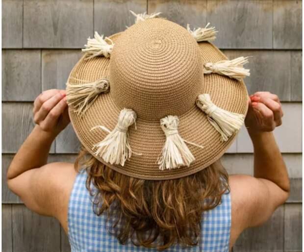 Декор шляпки из соломки DIY