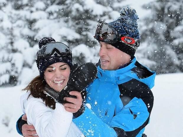 Кейт Миддлтон и Принц Уильям, Альпы, Франция, 3 марта 2016 год. / Фото: woman.ru