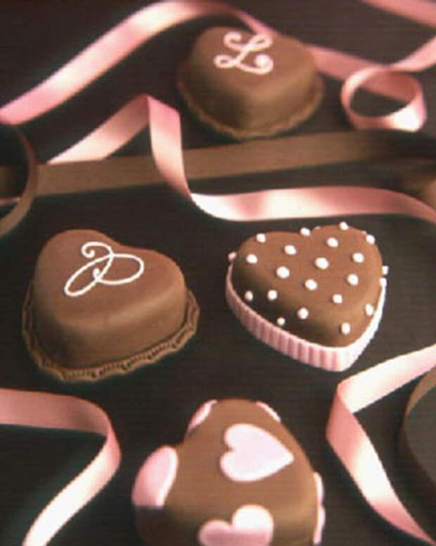 Шоколадное сердце анимация фото