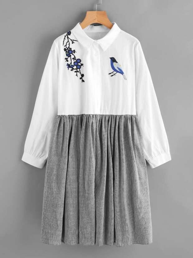 Как сделать платье из юбки (идея)