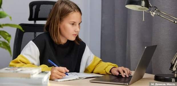 Дистанционное обучение помогло 5 тыс детей избежать COVID-19 Фото: М. Денисов mos.ru