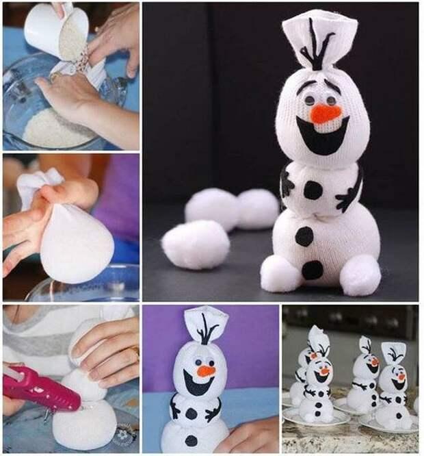 Снеговики в разных техниках. Сохраняйте и берите на заметку!