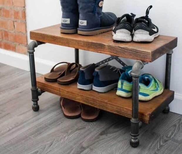 Как сделать самодельную подставку для обуви — 5 мастер-классов