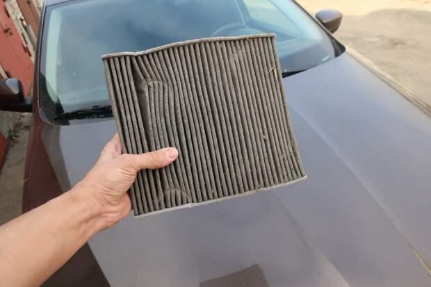 салонный фильтр автомобиля на примере Skoda Rapid