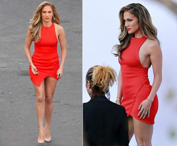 Jennifer Lopez red dress
