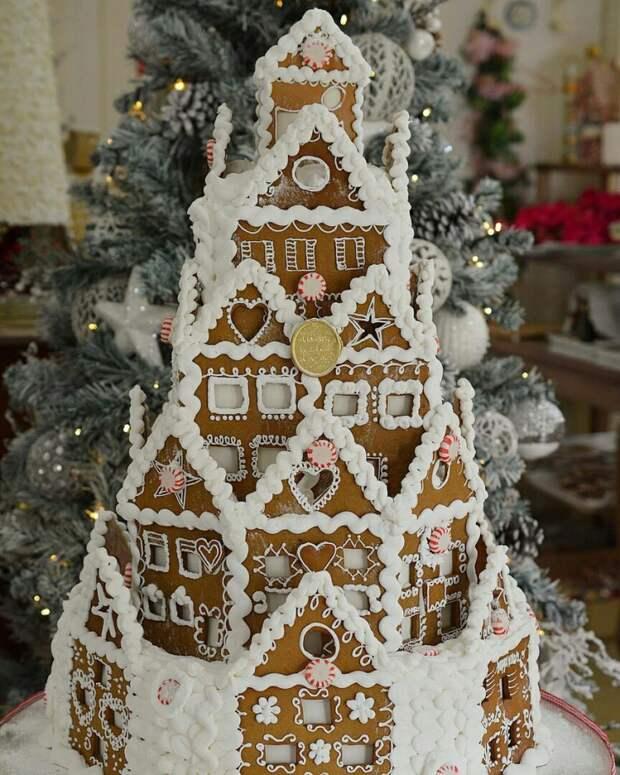 Новогодний имбирный торт