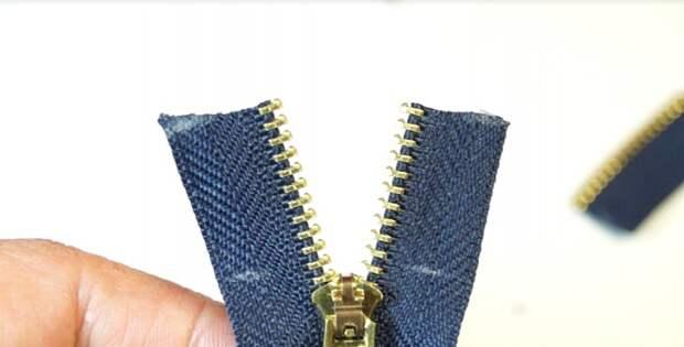 Как укоротить застежку молнию для джинсов