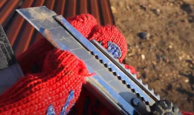 Как правильно резать профнастил: обходимся без болгарки и ножниц по металлу