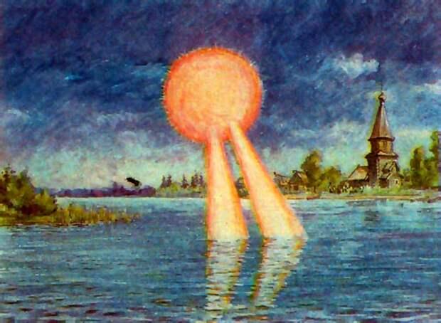 Небесные видения над полями военных сражений в русской истории