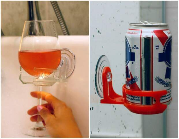 Подставка для напитков в ванную жизнь, изобретения