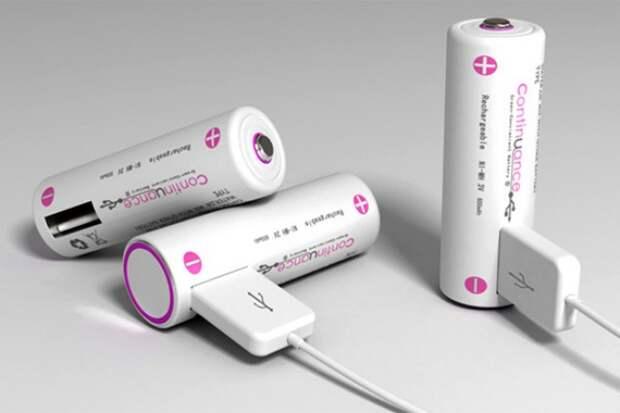 Аккумуляторы, заряжающиеся через USB жизнь, изобретения