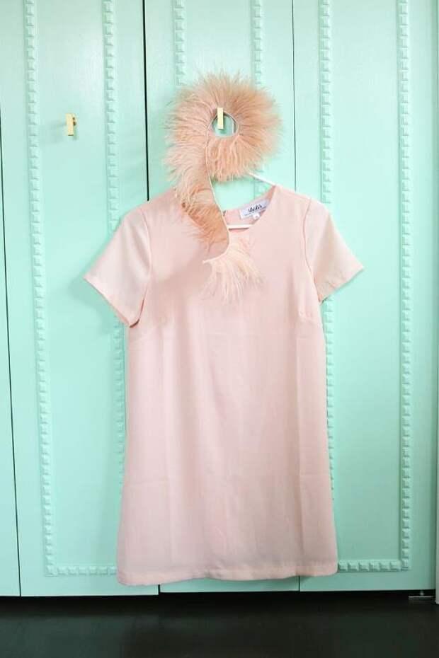 Декор платья перьями (Diy)