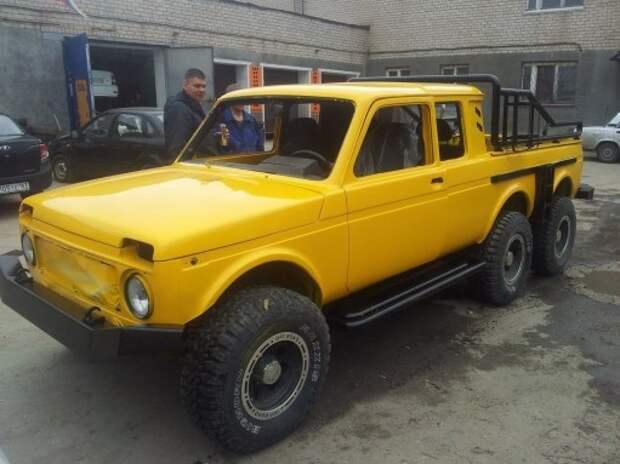 Шестиколесный пикап Lada создан в Самаре