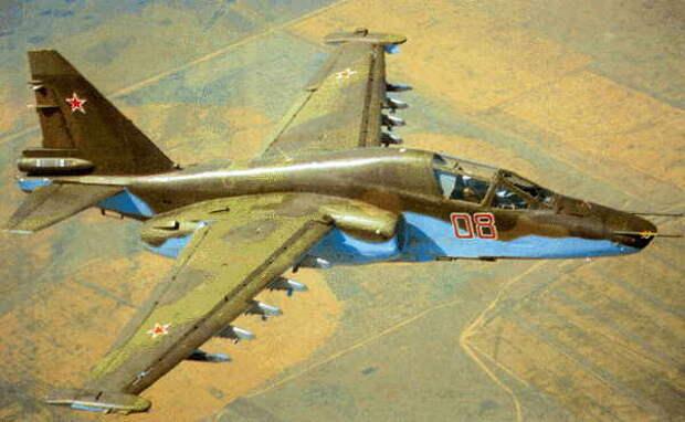 Штурмовик Су-25 в Афганистане