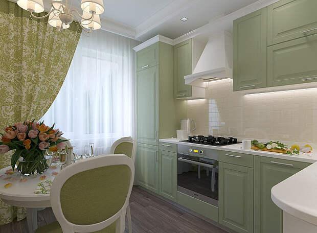 Приятная, уютная кухня. Дизайн: Анастасия Конькова.