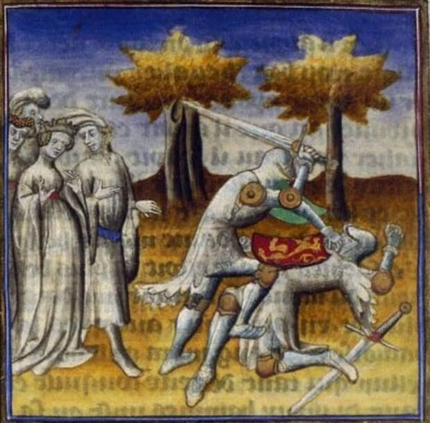 Мечи Э. Оукшотта на средневековых миниатюрах