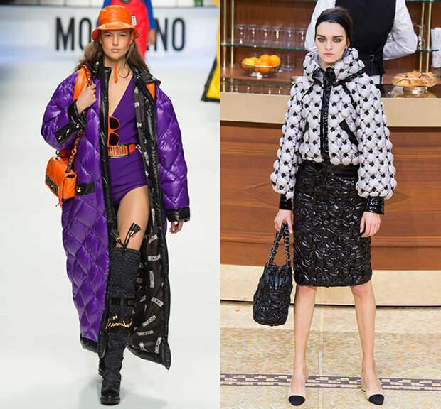 Слева — Moschino, справа — Chanel