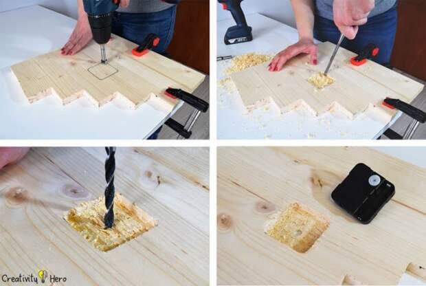 Как сделать современные деревянные часы