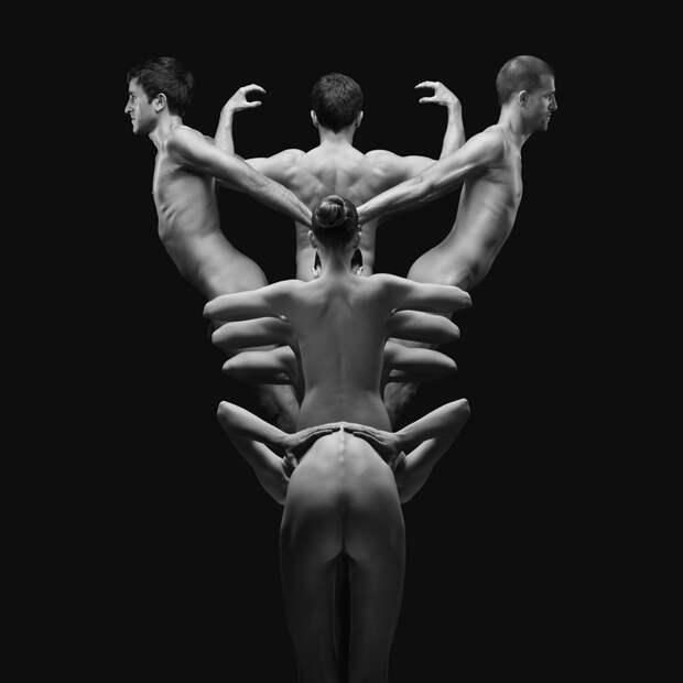 Клексография: обнаженные мужчины и женщины в работах французского фотографа
