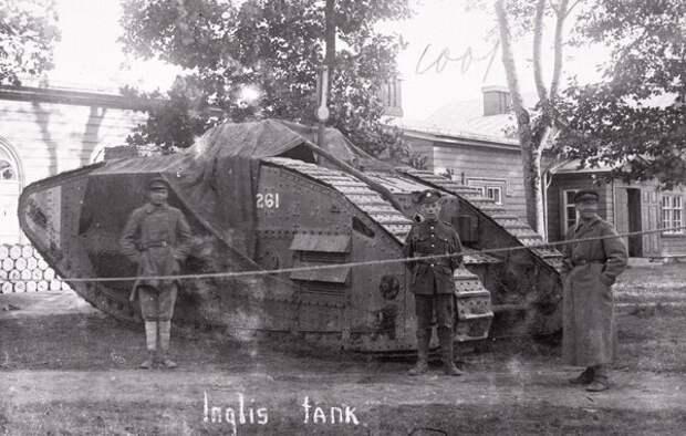 Британский танк в Северо-Западной белой армии