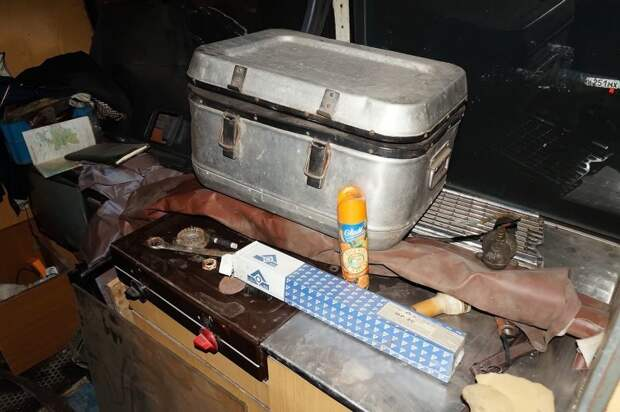 Термоконтейнер и плита. ЛАЗ, ЛАЗ-4969, авто, автобус, кухня, олдтаймер, ретро техника, фудтрак