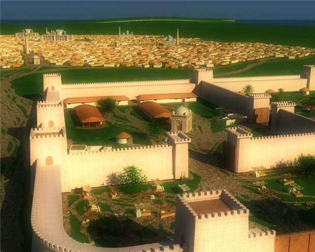Итиль Хазарский, реконструкция (Иллюстрация из открытых источников)