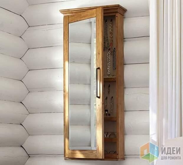Идеи для хранения украшений, навесной шкафчик