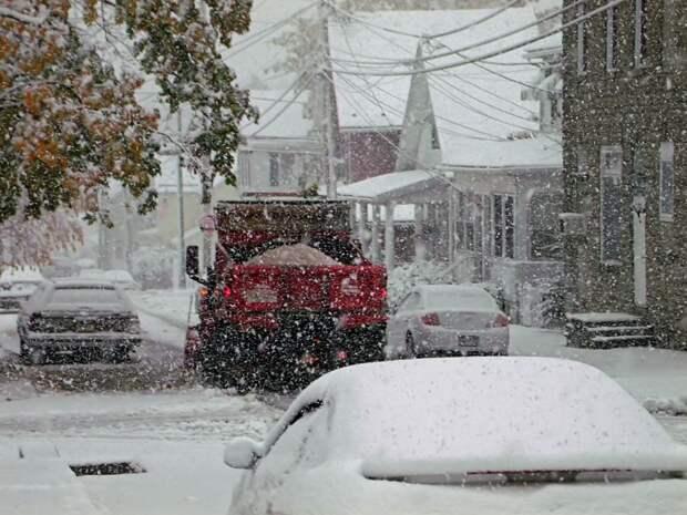 В США за сутки жару сменил лютый холод со снегом: фото и видео погодной аномалии