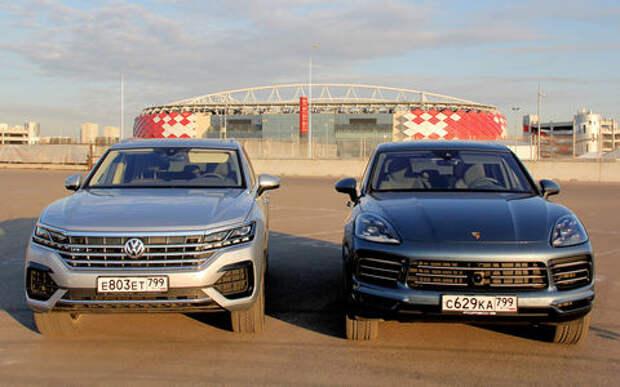 VW Touareg против Porsche Cayenne: все нормально или супергут