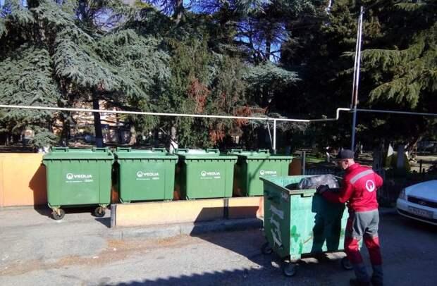 В Алуште регоператор ООО «Альтфатер» установил 255 контейнеров для сбора мусора