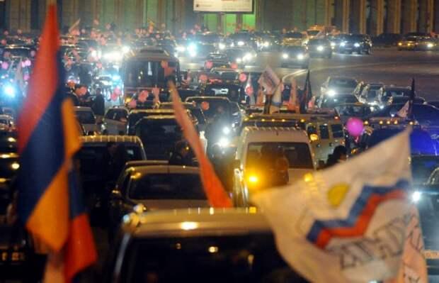 Автопробеги приравнены к демонстрациям