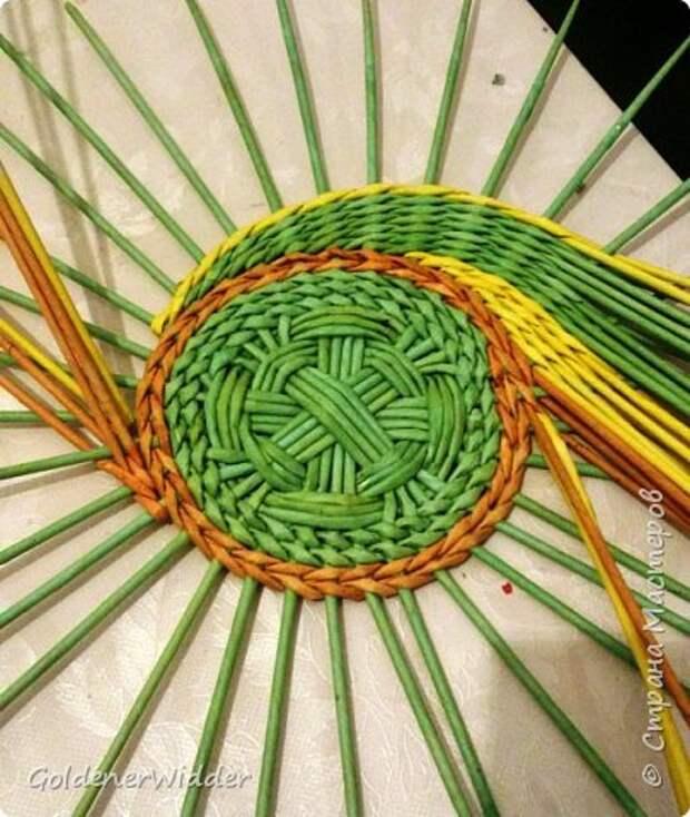 Мастер-класс Плетение Панно 40 см Спиральное плетение Бумага газетная Трубочки бумажные фото 35