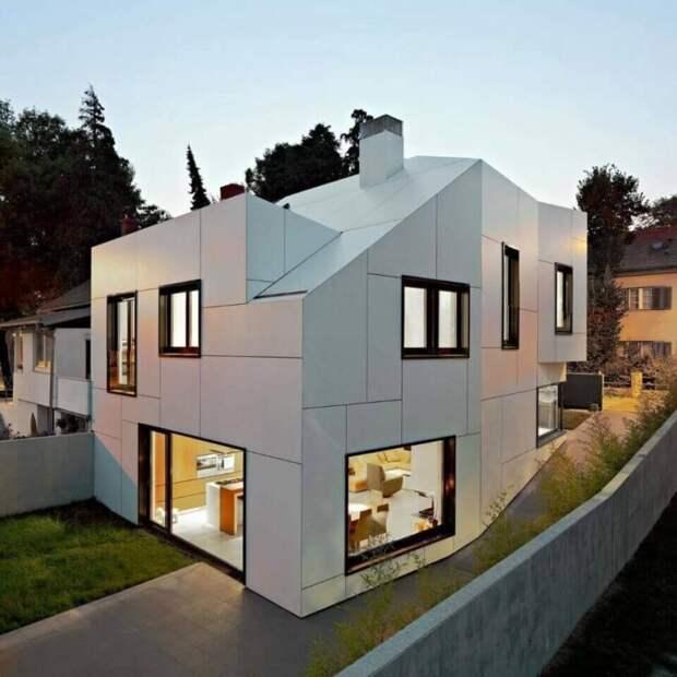 Современное оформление фасада загородного дома