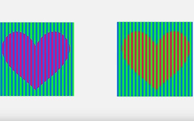 Эти сердечки на картинке – одного цвета