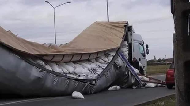 Забавные фото и видео про грузовики и дальнобойщиков