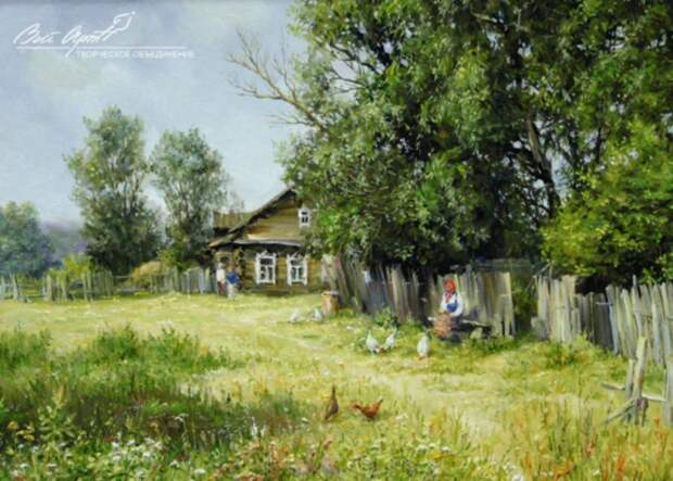 пейзажи художник Сергей Малов - 09