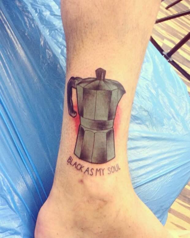 Татуировки про кофе