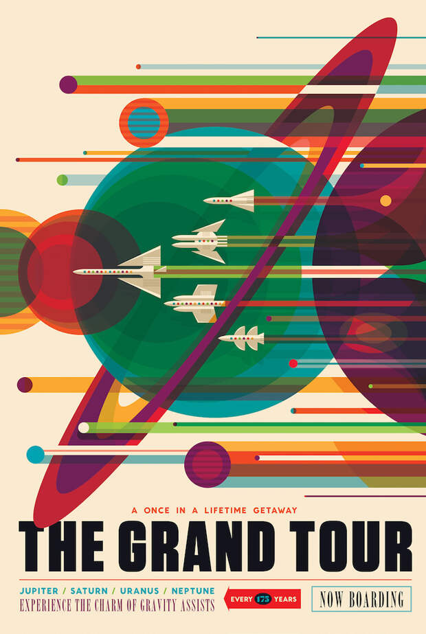 NASA опубликовало ретро-плакаты о космических путешествиях