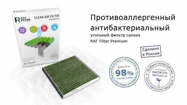 Противоаллергенные антибактериальные салонные фильтра RAF Filter