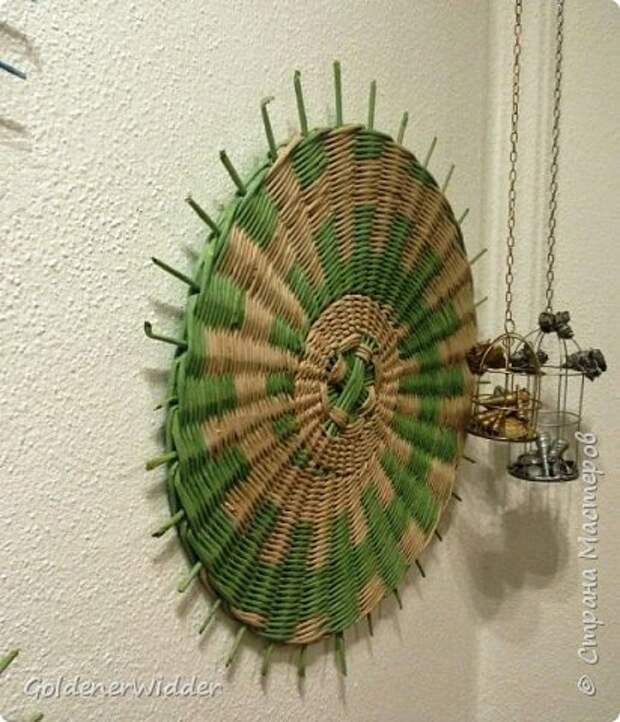 Мастер-класс Плетение Панно 40 см Спиральное плетение Бумага газетная Трубочки бумажные фото 38
