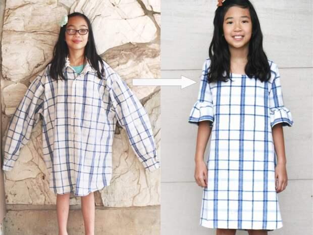Не руки, а золото! Швея-самоучка перешивает старую одежду в модные наряды для всей семьи