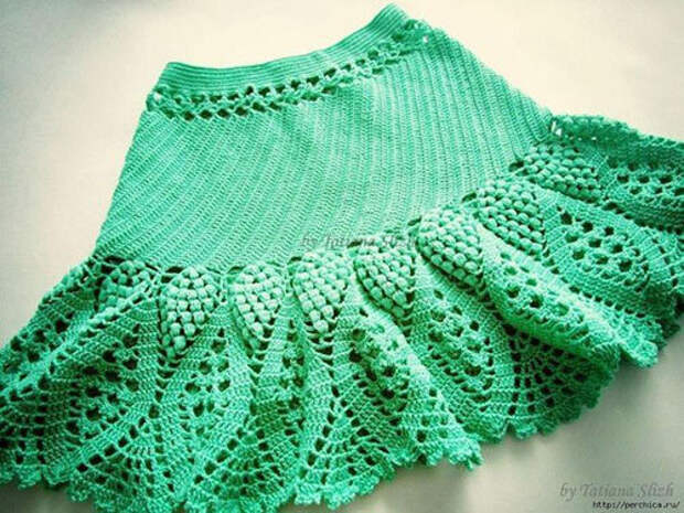 Романтичные юбки с ананасами