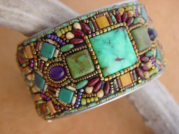 Mosaic Channel Cuff Bracelet