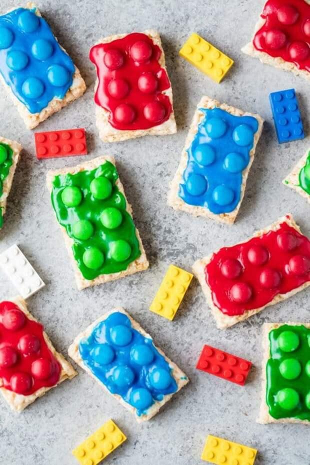 как сделать печенье в виде лего конструктора