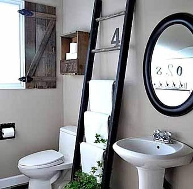 необычная вешалка для полотенец в ванную