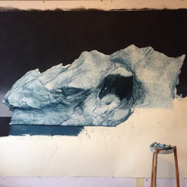Художница рисует умопомрачительные картины пальцами пальца, рисунок, художница