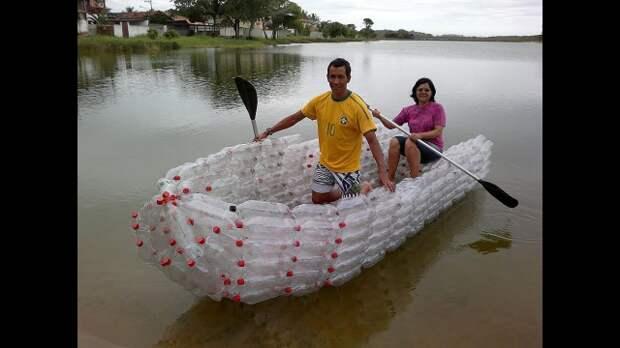 Плавательные средства из пластиковых бутылок.