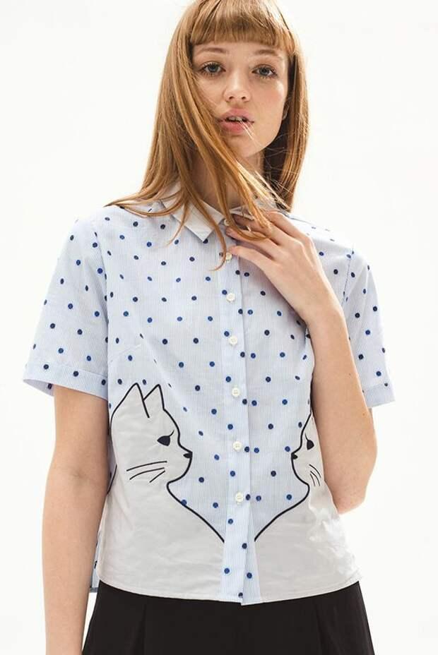 Блузки с современной вышивкой