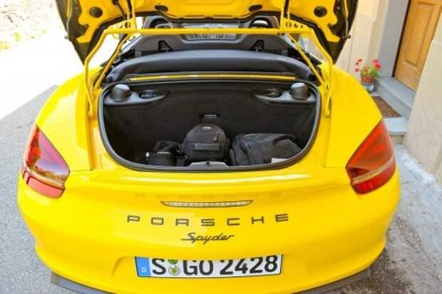 Багажники – как на обычном Бокстере: 150‑литровый спереди и 130‑литровый сзади.